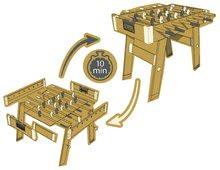 Stolný futbal - Drevený futbalový stôl Click&Goal Soccer Table Smoby skladací a rozkladací za 10 minút s 2 loptičkami od 8 rokov_7