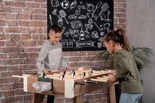 Stolný futbal - Drevený futbalový stôl Click&Goal Soccer Table Smoby skladací a rozkladací za 10 minút s 2 loptičkami od 8 rokov_12