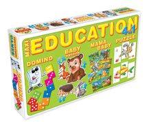 Spoločenské hry pre deti - Súprava hier 4 v 1 Dohány červená/zelená_0