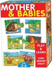 Spoločenské hry pre deti - Náučná hra Zvieratá a mláďatá Dohány 32 ks_0