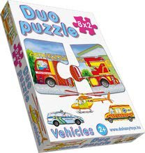 Puzzle pre najmenších - Baby puzzle Duo Dopravné prostriedky Dohány 8x2 dieliky 8-obrázkové od 24 mes_0