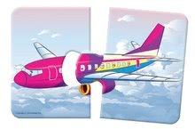 Puzzle pre najmenších - Baby puzzle Duo Dopravné prostriedky Dohány 8x2 dieliky 8-obrázkové od 24 mes_1