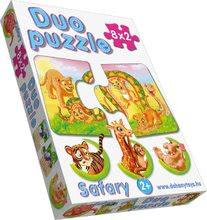 Puzzle pre najmenších - Baby puzzle Duo Safari Dohány 8x2 dieliky 8-obrázkové od 24 mes_0