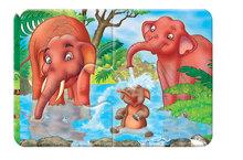 Puzzle pre najmenších - Baby puzzle Duo Safari Dohány 8x2 dieliky 8-obrázkové od 24 mes_2