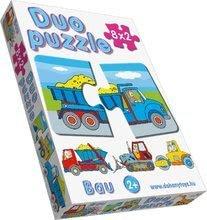 Puzzle pre najmenších - Baby puzzle Duo Pracovné autá Dohány 8x2 dieliky 8-obrázkové od 24 mes_0
