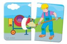 Puzzle pre najmenších - Baby puzzle Duo Pracovné autá Dohány 8x2 dieliky 8-obrázkové od 24 mes_1