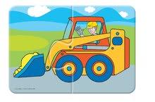 Puzzle pre najmenších - Baby puzzle Duo Pracovné autá Dohány 8x2 dieliky 8-obrázkové od 24 mes_2