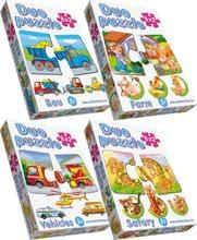 Puzzle pre najmenších - Baby puzzle Duo Pracovné autá Dohány 8x2 dieliky 8-obrázkové od 24 mes_3