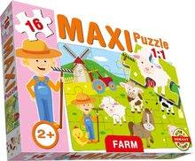 Puzzle pre najmenších - Baby puzzle Maxi Farma Dohány 16 dielov od 24 mes_0