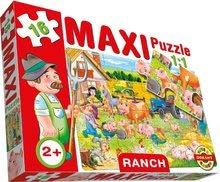 Puzzle pre najmenších - Baby puzzle Maxi Ranč Dohány 16 dielov od 24 mes_0