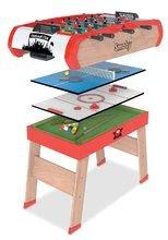 Stolný futbal - Futbalový stôl Power Play 4v1 Smoby multifunkčný od 8 rokov_0