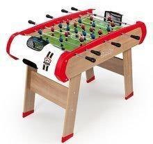 Dřevěný fotbalový stůl Powerplay 4v1 Smoby - stolní fotbal, kulečník, hokej a tenis od 8 let