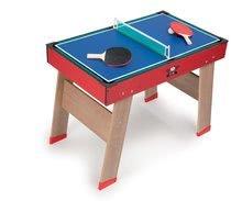 Stolný futbal - Drevený futbalový stôl Powerplay 4v1 Smoby stolný futbal, biliard, hokej a tenis od 8 rokov_2