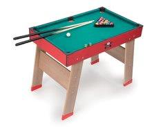 Stolný futbal - Drevený futbalový stôl Powerplay 4v1 Smoby stolný futbal, biliard, hokej a tenis od 8 rokov_4
