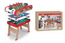 Stolný futbal - Drevený futbalový stôl Powerplay 4v1 Smoby stolný futbal, biliard, hokej a tenis od 8 rokov_6