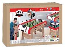 Stolný futbal - Drevený futbalový stôl Powerplay 4v1 Smoby stolný futbal, biliard, hokej a tenis od 8 rokov_9