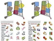 Spoločenské hry pre deti - Spoločenská hra Môj nákupný vozík - pamäťová a náučná hra o potravinách Dohány _0