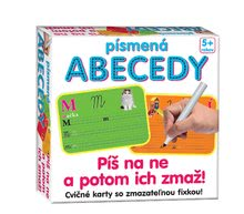 Készségfejlesztő gyerekjáték Betűk ABC-írj rá és töröld le Dohány 5 éves kortól (nyelvek SR, CR, HU, RO) DH646-03