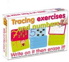 Poučna igra Vaje za pisanje številk in črt Dohány napiši in zbriši od 3 leta
