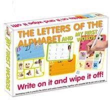 Készségfejlesztő gyerekjáték Betűk ABC és első szavak-írj rá és töröld le Dohány 5 éves kortól (nyelvek SR, CR, HU, RO) DH647-02