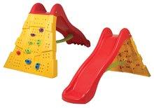 Skluzavka pro děti s lezeckou stěnou Starplast červeno žlutá