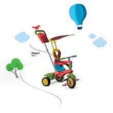 Trojkolky od 10 mesiacov - Trojkolka Joy 4v1 Touch Steering smarTrike červeno-zelená od 10 mes_5