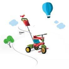 Trojkolky od 10 mesiacov - Trojkolka Joy 4v1 Touch Steering smarTrike červeno-zelená od 10 mes_6