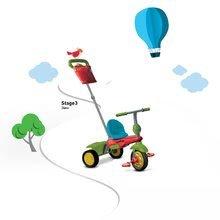 Trojkolky od 10 mesiacov - Trojkolka Joy 4v1 Touch Steering smarTrike červeno-zelená od 10 mes_7