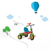 Trojkolky od 10 mesiacov - Trojkolka Joy 4v1 Touch Steering smarTrike červeno-zelená od 10 mes_8