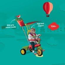 Trojkolky od 10 mesiacov - Trojkolka Joy 4v1 Touch Steering smarTrike červeno-zelená od 10 mes_9
