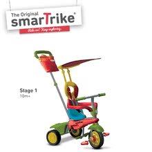 Trojkolky od 10 mesiacov - Trojkolka Joy 4v1 Touch Steering smarTrike červeno-zelená od 10 mes_1