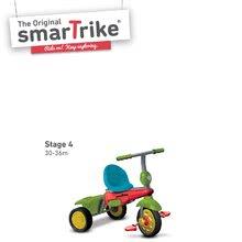 Trojkolky od 10 mesiacov - Trojkolka Joy 4v1 Touch Steering smarTrike červeno-zelená od 10 mes_4