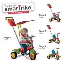 Trojkolky od 10 mesiacov - Trojkolka Joy 4v1 Touch Steering smarTrike červeno-zelená od 10 mes_0