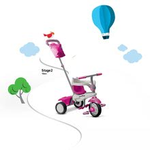 Trojkolky od 10 mesiacov - Trojkolka Joy Touch Steering smarTrike ružovo-biela od 10 mes_5