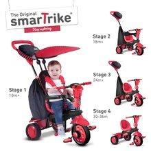 Trojkolky od 10 mesiacov - Trojkolka Spark Touch Steering 4v1 Black&Red smarTrike červeno-čierna od 10 mes_1