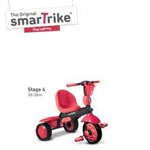 Trojkolky od 10 mesiacov - Trojkolka Spark Touch Steering 4v1 Black&Red smarTrike červeno-čierna od 10 mes_4