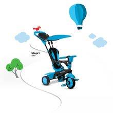 Trojkolky od 10 mesiacov - Trojkolka Spark Blue Touch Steering 4v1 smarTrike modro-čierna od 10 mes_0
