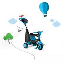 Trojkolky od 10 mesiacov - Trojkolka Spark Blue Touch Steering 4v1 smarTrike modro-čierna od 10 mes_1