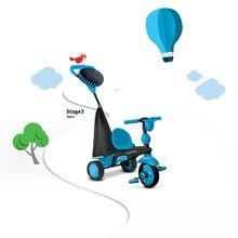Trojkolky od 10 mesiacov - Trojkolka Spark Blue Touch Steering 4v1 smarTrike modro-čierna od 10 mes_2