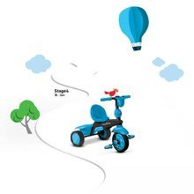 Trojkolky od 10 mesiacov - Trojkolka Spark Blue Touch Steering 4v1 smarTrike modro-čierna od 10 mes_3