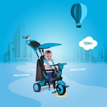 Trojkolky od 10 mesiacov - Trojkolka Spark Blue Touch Steering 4v1 smarTrike modro-čierna od 10 mes_4