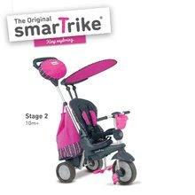 Trojkolky od 10 mesiacov - Trojkolka Splash 5v1 Pink smarTrike 360° riadenie s polohovateľnou opierkou ružovo-šedá od 10 mes_0