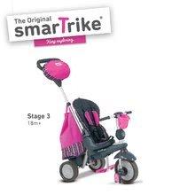 Trojkolky od 10 mesiacov - Trojkolka Splash 5v1 Pink smarTrike 360° riadenie s polohovateľnou opierkou ružovo-šedá od 10 mes_1