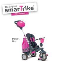Trojkolky od 10 mesiacov - Trojkolka Splash 5v1 Pink smarTrike 360° riadenie s polohovateľnou opierkou ružovo-šedá od 10 mes_2