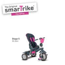 Trojkolky od 10 mesiacov - Trojkolka Splash 5v1 Pink smarTrike 360° riadenie s polohovateľnou opierkou ružovo-šedá od 10 mes_3