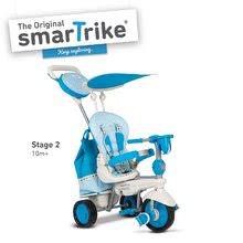 Trojkolky od 10 mesiacov - Trojkolka Splash 5v1 Blue&White smarTrike 360° riadenie s polohovateľnou opierkou modro-krémová od 10 mes_2