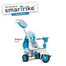 Trojkolky od 10 mesiacov - Trojkolka Splash 5v1 Blue&White smarTrike 360° riadenie s polohovateľnou opierkou modro-krémová od 10 mes_4