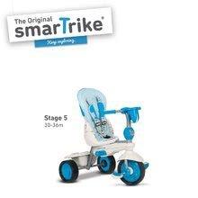 Trojkolky od 10 mesiacov - Trojkolka Splash 5v1 Blue&White smarTrike 360° riadenie s polohovateľnou opierkou modro-krémová od 10 mes_5