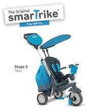 Trojkolky od 10 mesiacov - Trojkolka Splash 5v1 Blue smarTrike 360° riadenie s polohovateľnou opierkou modro-šedá od 10 mes_1
