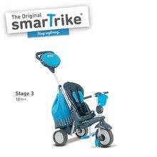 Trojkolky od 10 mesiacov - Trojkolka Splash 5v1 Blue smarTrike 360° riadenie s polohovateľnou opierkou modro-šedá od 10 mes_2